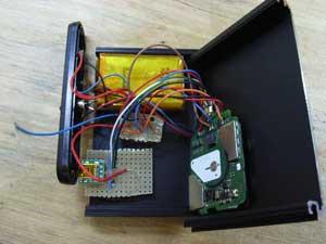 リチウムイオンバッテリーと3G基板構成